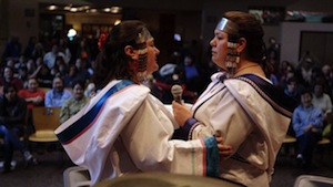 Karin and Kathy Kettler, the Canadian throat-singing sisters who together are known as Nukariik, carry on the traditions of the elders from their mothers' village in Kangiqsualujjuaq, Nunavik, which is located in northern Quebec.