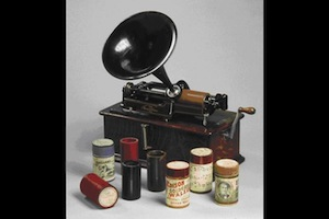 Edison phonograph and wax cylinders from the collection of ethnomusicological recordings at the Berliner Phonogramm-Archiv