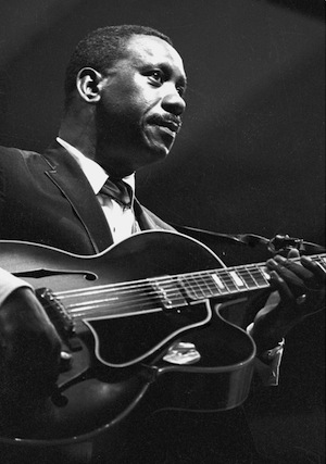 Guitarist Wes Montgomery with his Gibson L5 circa 1966