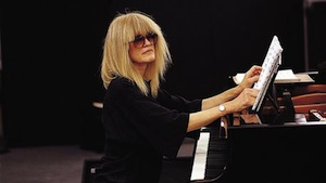 Pianist, composer, improviser Carla Bley at the piano