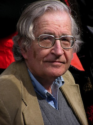 "Noam Chomsky - sometimes described as ""the father of modern linguistics""."