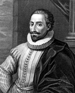 Miguel de Cervantes in a painting