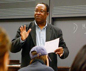 Music scholar Kofi Agawu lecturing.