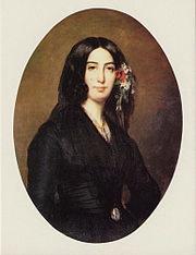 Portrait of George Sand at 34, by Auguste Charpentier, 1838, Musée de la Vie romantique, Paris
