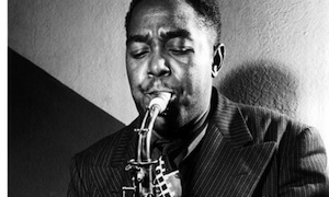 Charlie Parker playing sax